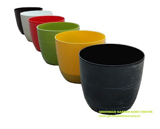 Colourful Plastic Pots