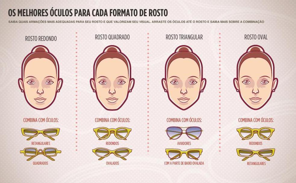 Ogni Style...  Óculos Escuro Para Cada Tipo De Rosto 7f5b56fe0a