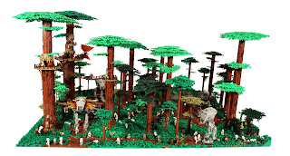 Lego Star Wars dioramas: Battle of Endor