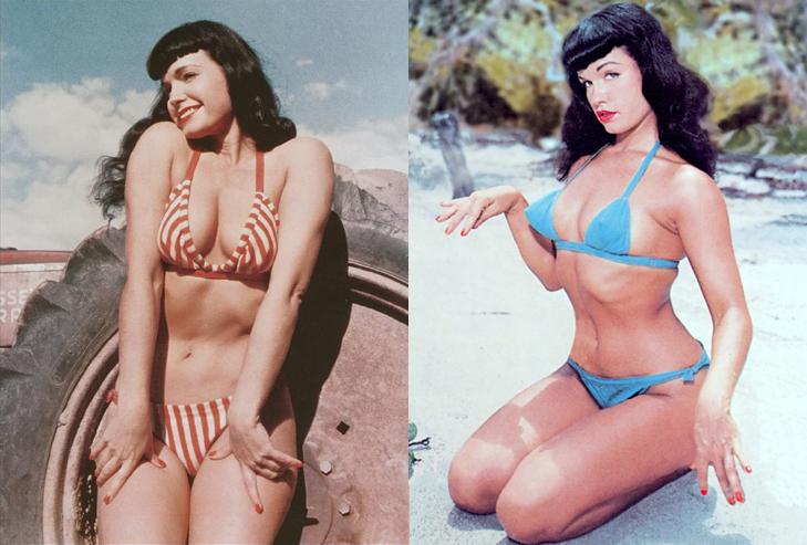 bettie-page-on-the-beach-bikini