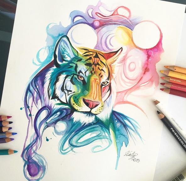 gambar keren kreatif dan menarik dengan menggunakan pensil warna-9