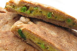 Parathas Stuffed with Vegetables and Spices