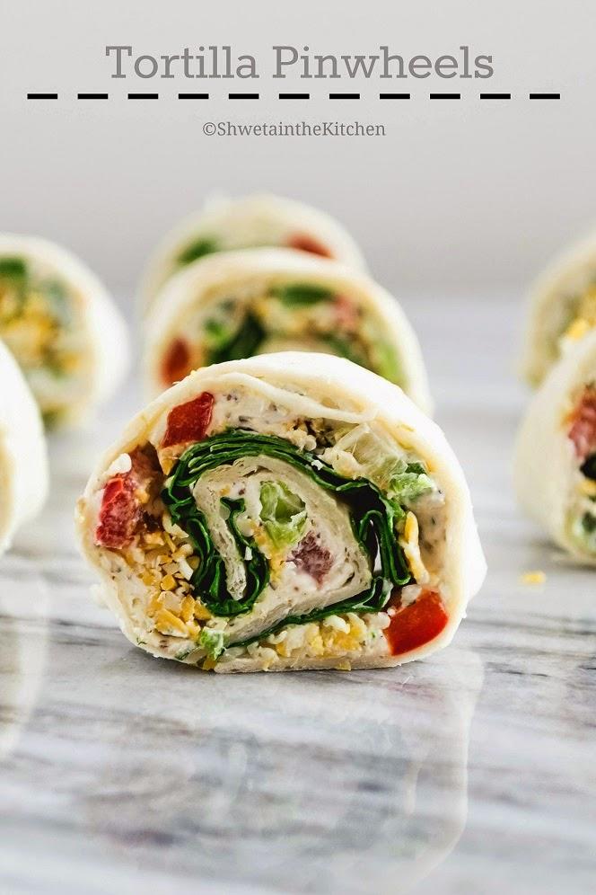 Shweta in the Kitchen: Tortilla Pinwheels