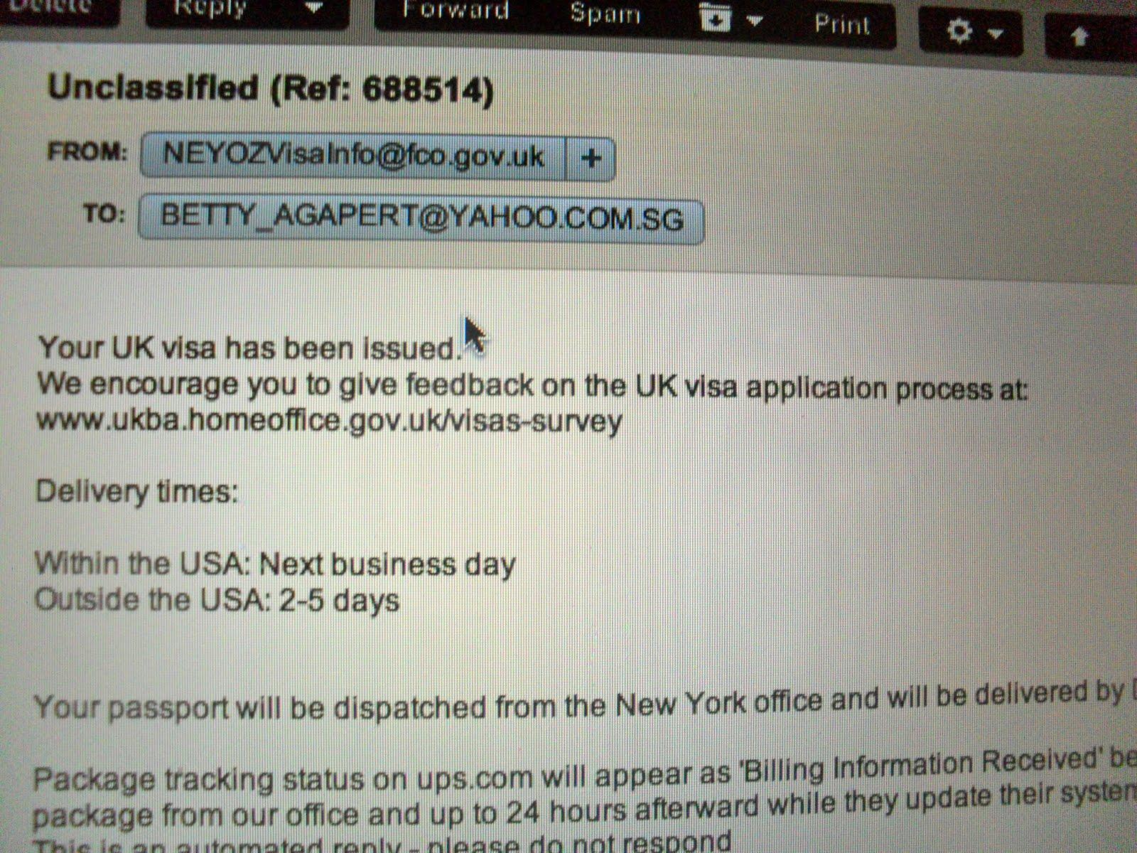 Uk visa passport collection time
