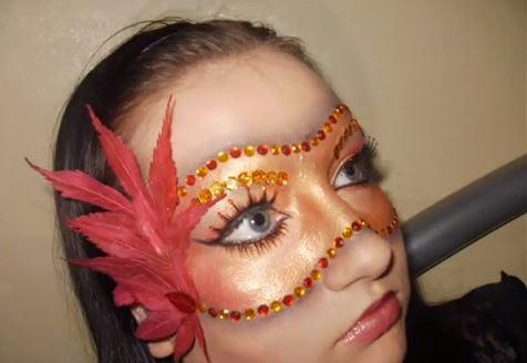 máscara carnaval, maquiagem
