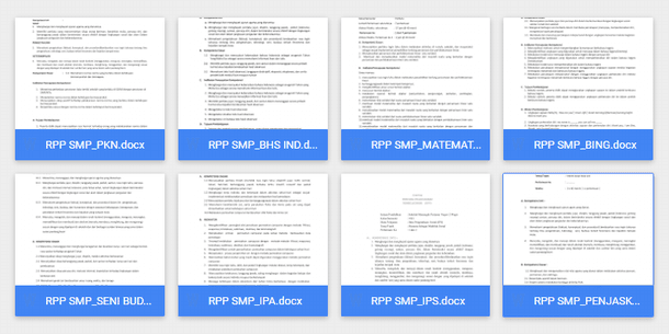 Perangkat Pembelajaran SMP Kurikulum 2013 Download Format Microsoft Word