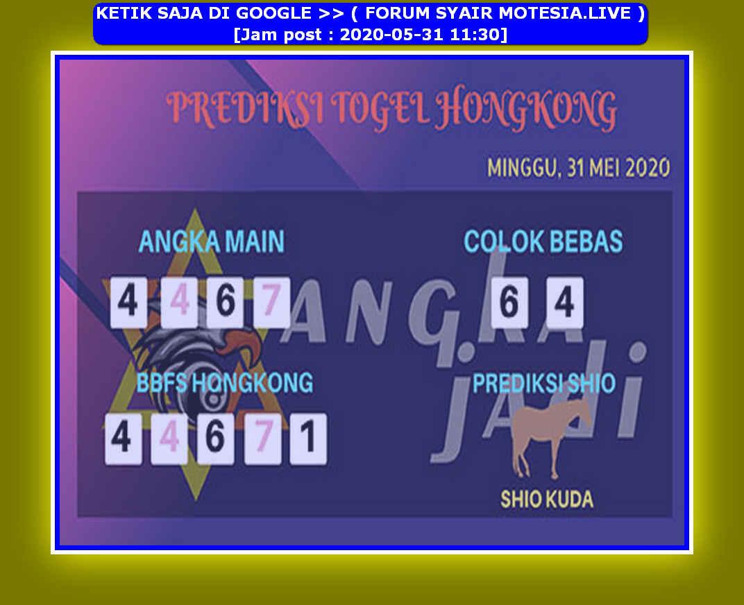 Kode syair Hongkong Minggu 31 Mei 2020 178