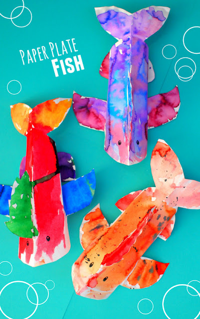 how to make sea creatures out of paper plates