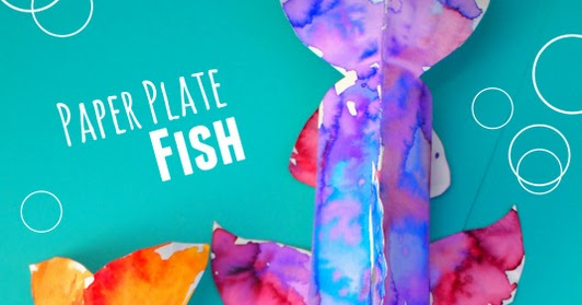 Colorful 3d Paper Plate Fish Craft And Our 10 Favorite Fish Books