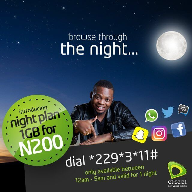 Etisalat midnight data plan