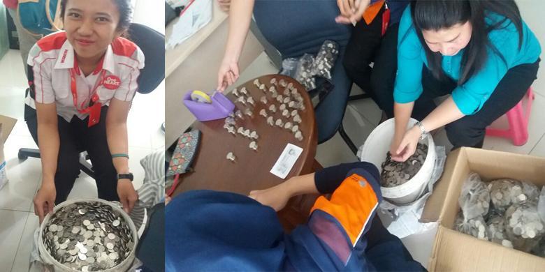 Orang Depok Beli CBR150R Pakai Uang Koin Satu Ember