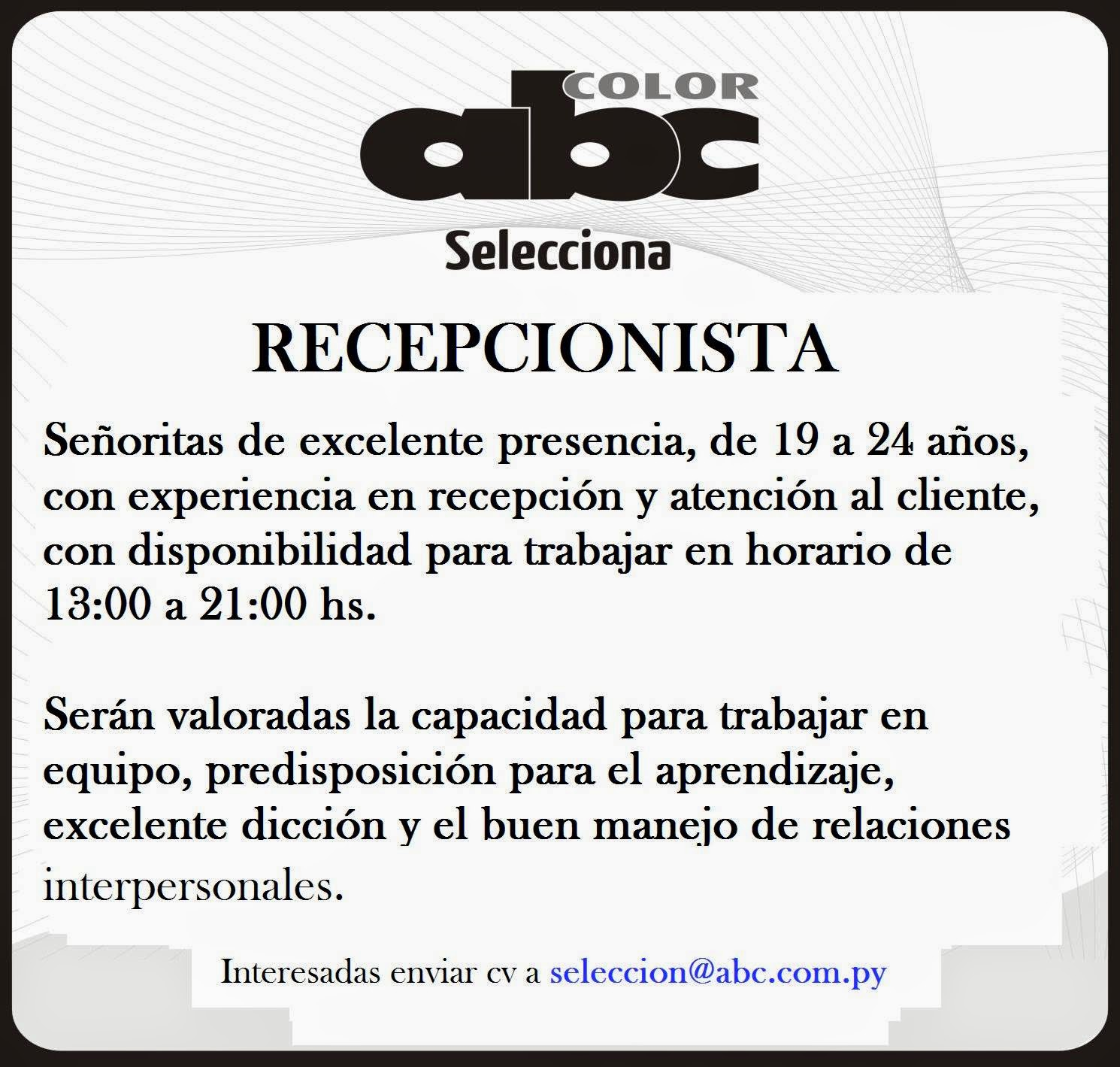 Moderno Currículos Para Recepcionistas De Salón Imágenes - Ejemplo ...
