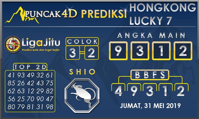 PREDIKSI TOGEL HONGKONG LUCKY7 PUNCAK4D 31 MEI 2019