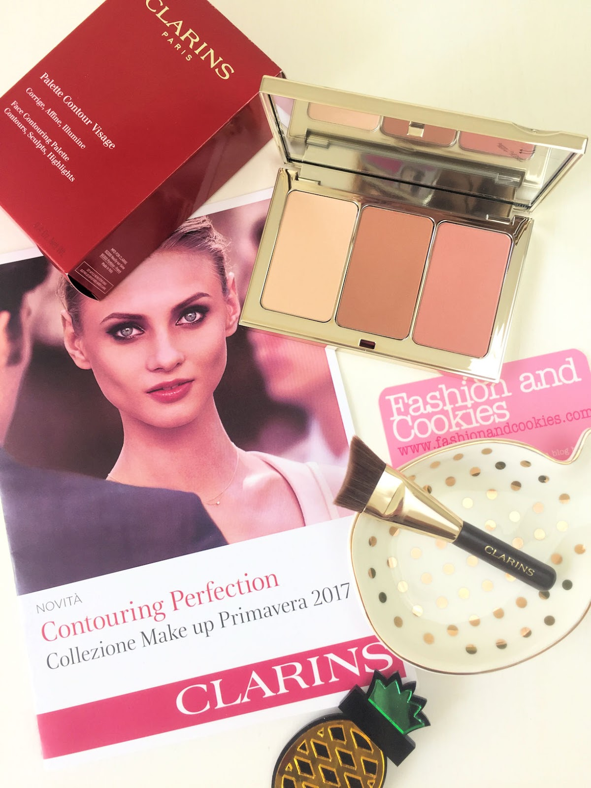 Clarins Face Contouring Palette makeup Spring 2017 review su Fashion and Cookies beauty blog, beauty blogger