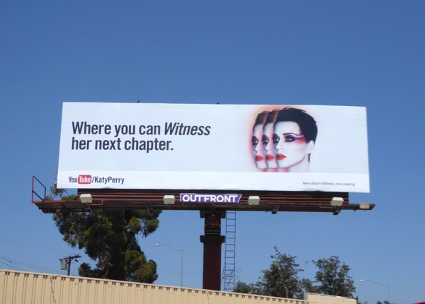 Katy Perry YouTube Witness billboard