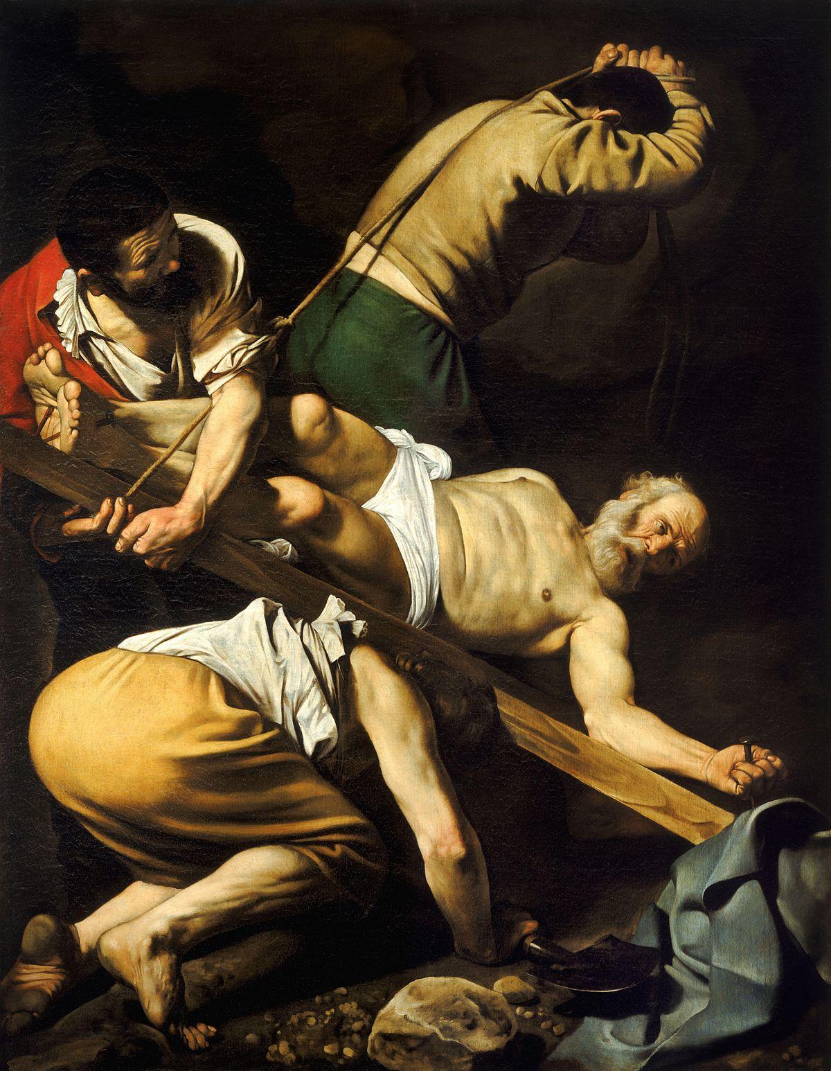 4. A Crucificação de São Pedro (1600-01) - Comovente e realista, traz um São Pedro que demonstra nos olhos uma dor perturbadora.