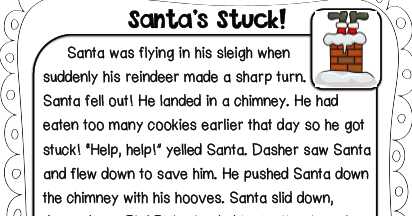 Sarah's First Grade Snippets: Santa Stuck Freebies!