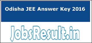 Odisha JEE Answer Key 2016