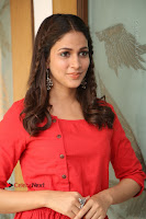 Actress Lavanya Tripathi Latest Pos in Red Dress at Radha Movie Success Meet .COM 0224.JPG