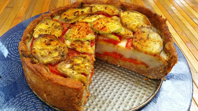 Pastel de puré de patata y verduras