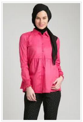 Model Baju Muslim Kemeja Wanita Modern