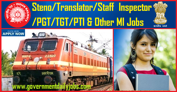 RRB MI Recruitment 2019 Notification Apply for 1665 M & I Posts in Railways