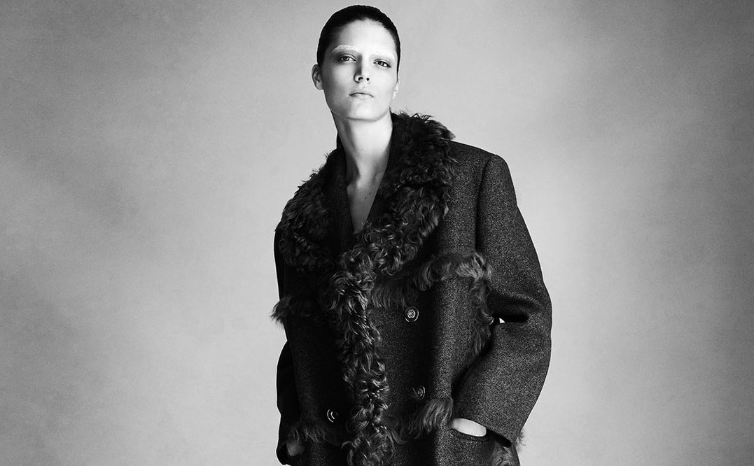 silhouette: katryn kruger by victor demarchelier for heroine fall / winter 2014