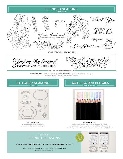 Stampin' Up! Blended Seasons Bundle Exclusive Offer. Order craft supplies from Mitosu Crafts UK Online Shop