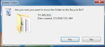 file atau folder yang di klik selalu minta delete atau hapus