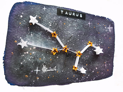 Quilling by Ishani, Easy Quilling, Quillish, Sun signs, zodiac sign gift, Galaxy, Night sky illustration