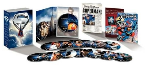 Display of items in Superman Ultimate Collector's Edition set