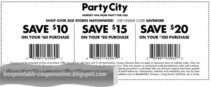photograph about Party City Coupons Printable named Printable Discount codes 2019: Get together Metropolis Discount coupons