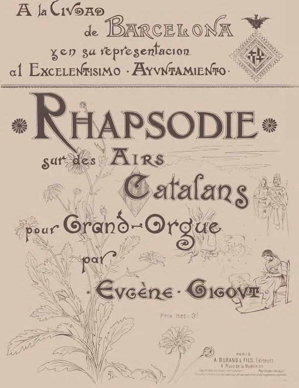 Cover from Gigout's Rhapsodie