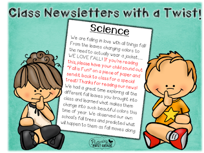 Classroom newsletters to build responsibility in the classroom and at home.