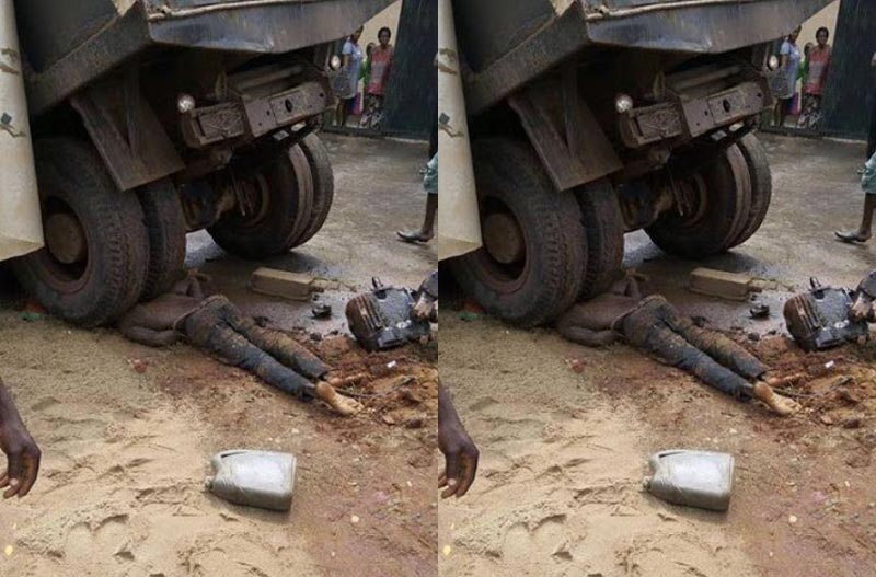 Tipper crushes car mechanic in Onitsha