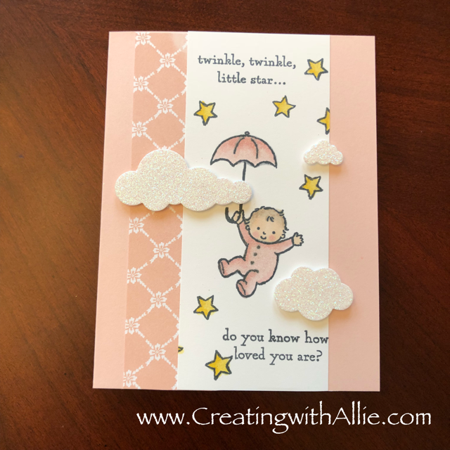 Check out the video tutorial with some AMAZING tips and tricks for making baby cards using Stampin Up's moon baby stamp set!  You will love how quick and easy this is to make!  www.creatingwithallie.com #stampinup #alejandragomez #creatingwithallie #videotutorial #cardmaking #papercrafts #handmadegreetingcards #fun #creativity #makeacard #sendacard #stampingisfun #sharewhatyoulove #babyannouncement #babycards #babyshower