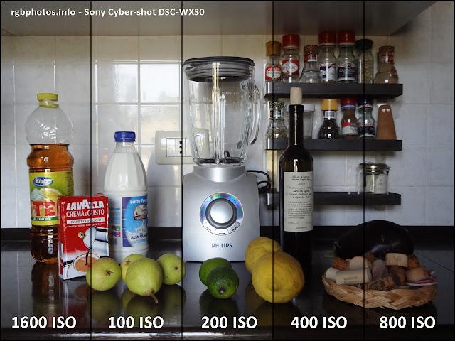 Qualità d'immagine della Sony Cyber-shot DSC-WX30 a diversi ISO