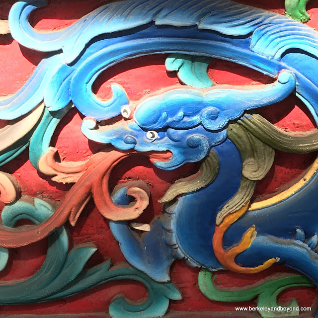 dragon detail t Wen-Chang Temple at National Center for Traditional Arts in Yilan, Taiwan