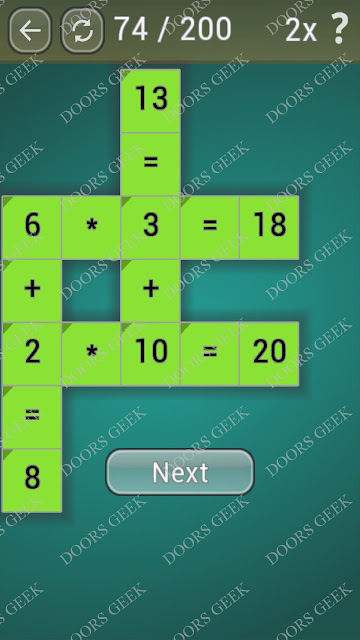 Math Games [Beginner] Level 74 answers, cheats, solution, walkthrough for android