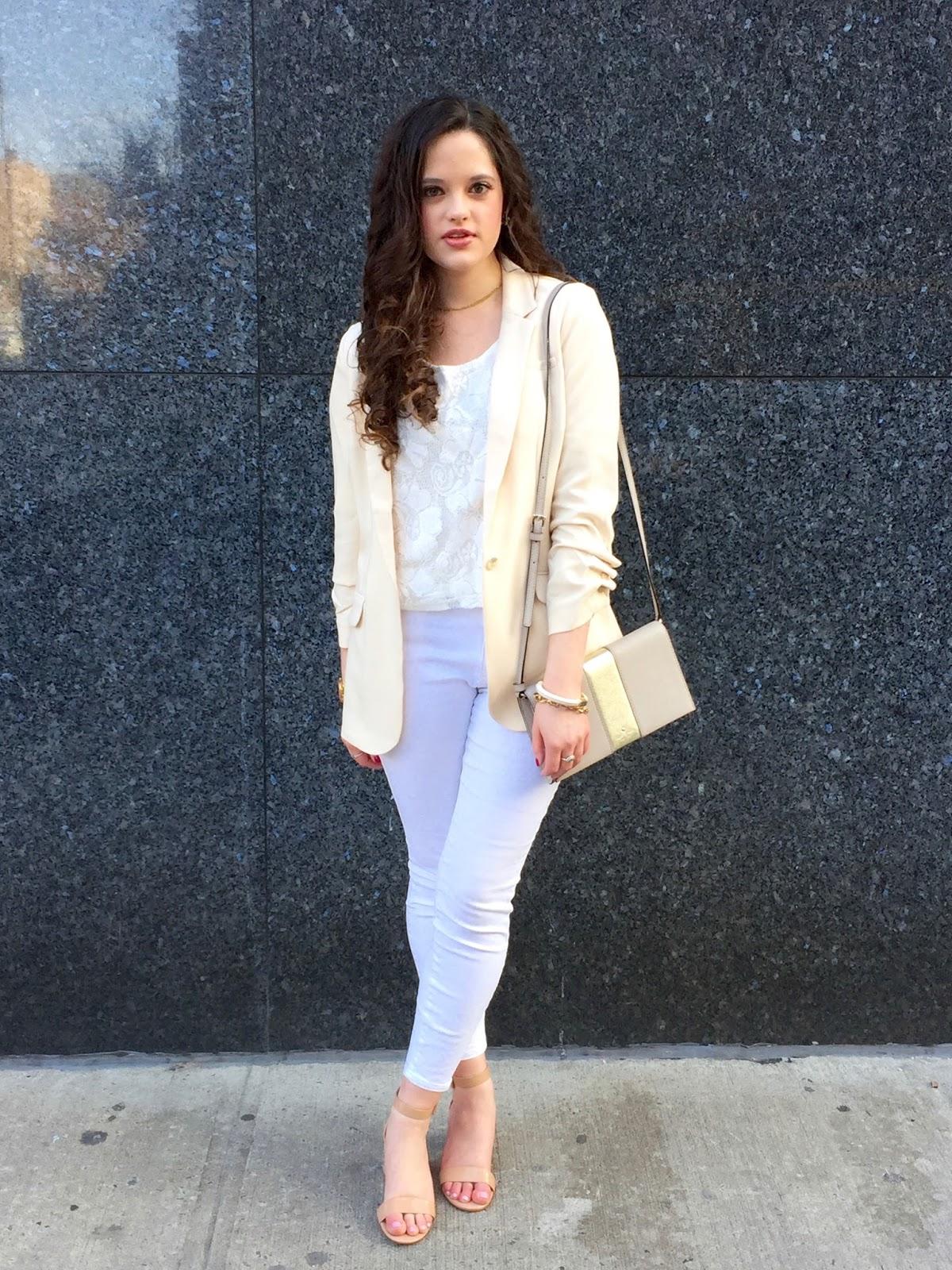 monochrome white outfit