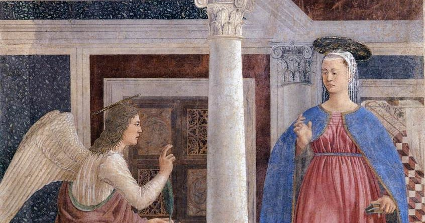 Spencer Alley: Annunciation Fresco at Arezzo by Piero ...
