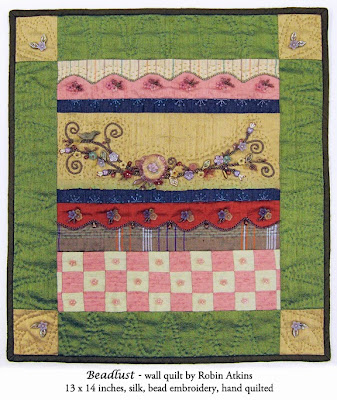 Robin Atkins, beaded quilt, Beadlust