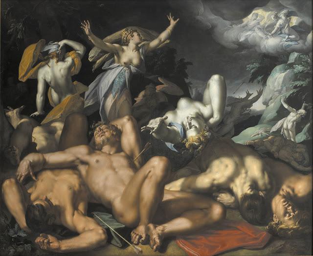 Niobe Mourning Her Children - Abraham Bloemaert (1566-1651)