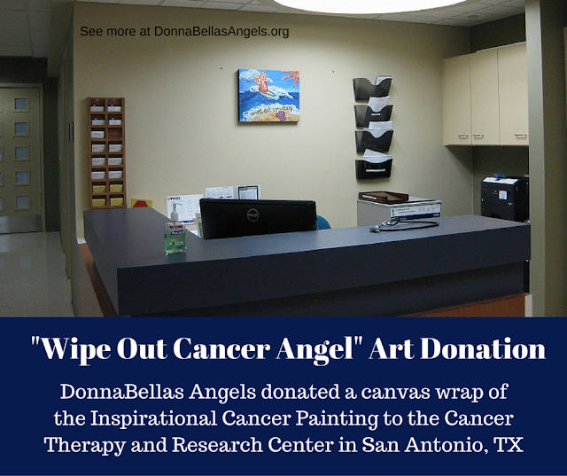 Wipe Out Cancer Angel Art Donation to Cancer Therapy and Research Center in San Antonio, TX