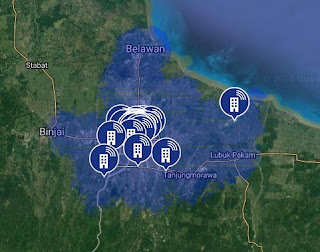 Jaringan 4G LTE AXIS di Sumatera Utara