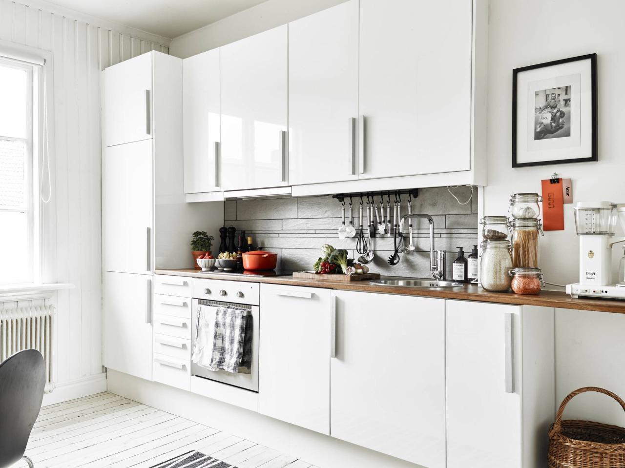 Cozinha Escandinava Ilha Central Que Segue A Proposta Da Cozinha