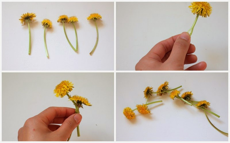 steps to make a dandelion crown