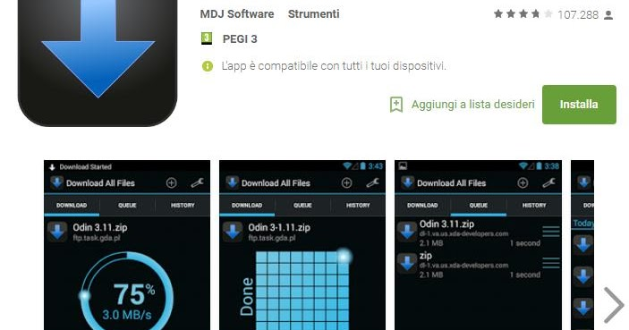 5 app per gestire i download su android for App per progettare casa android