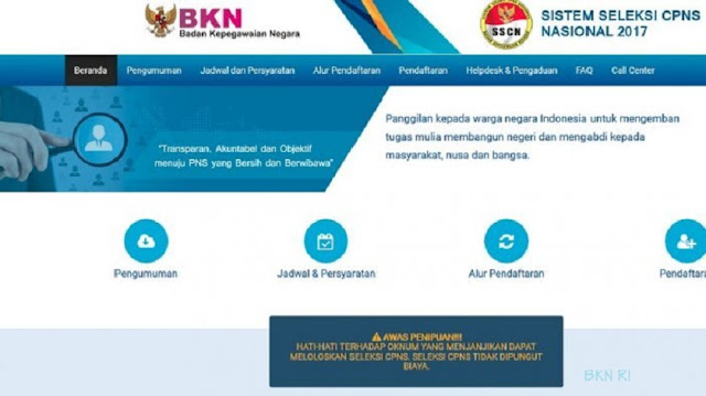 prosedur pendaftaran cpns tahun 2018