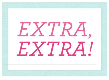 EXTRA, EXTRA  JOIN STAMPIN' UP! PROMOTION
